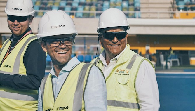 Men in construction gear