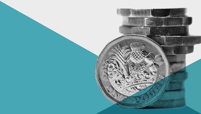 One pound coins