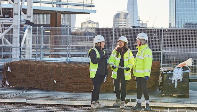 Three Females on a Construction Site in London - Mace Group