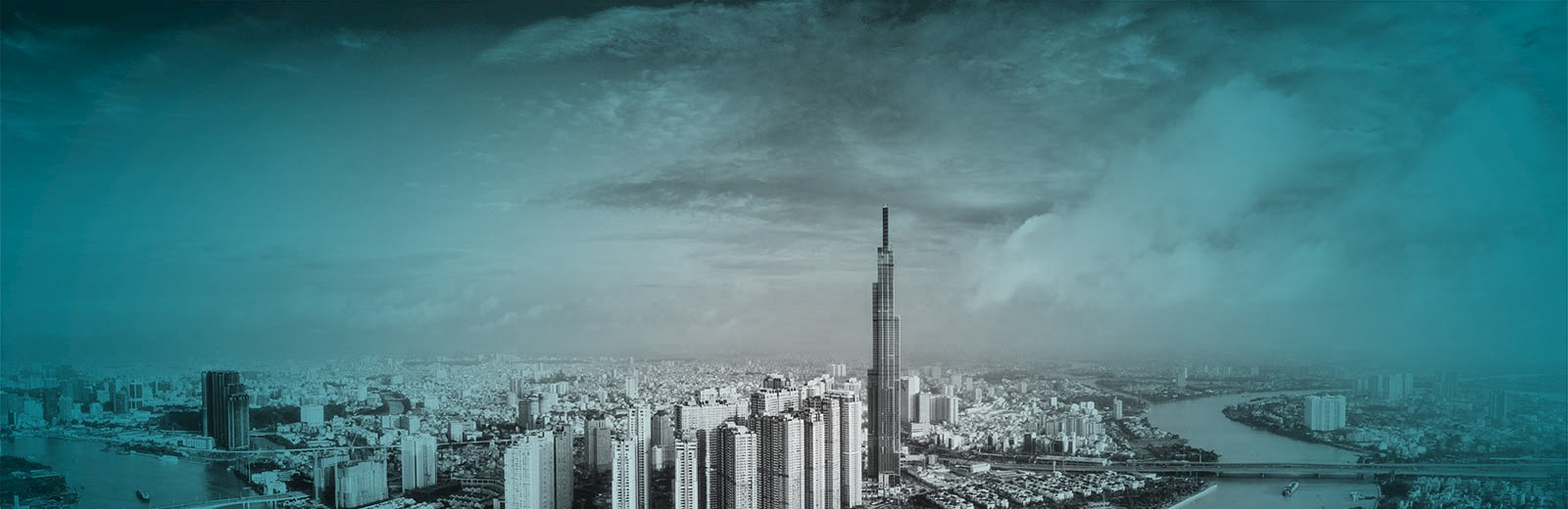 Tinted View of Vietnam Sky Scrappers - Mace Group