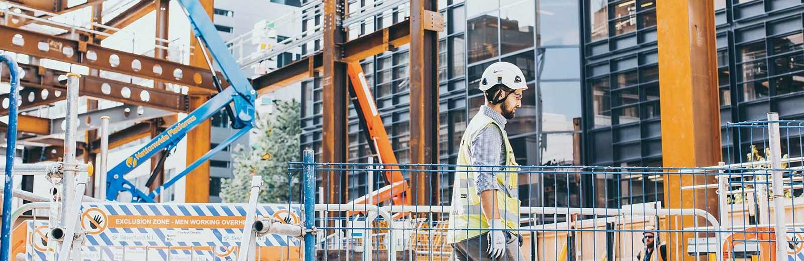 A man on a construction site