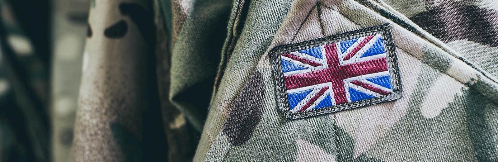 British flag on army jacket