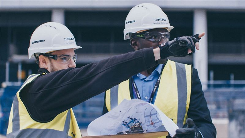 Male Coworkers Constructions Training - Mace Group