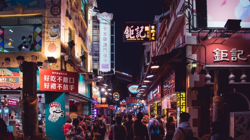 Busy street in Asia Pac region - Mace Group