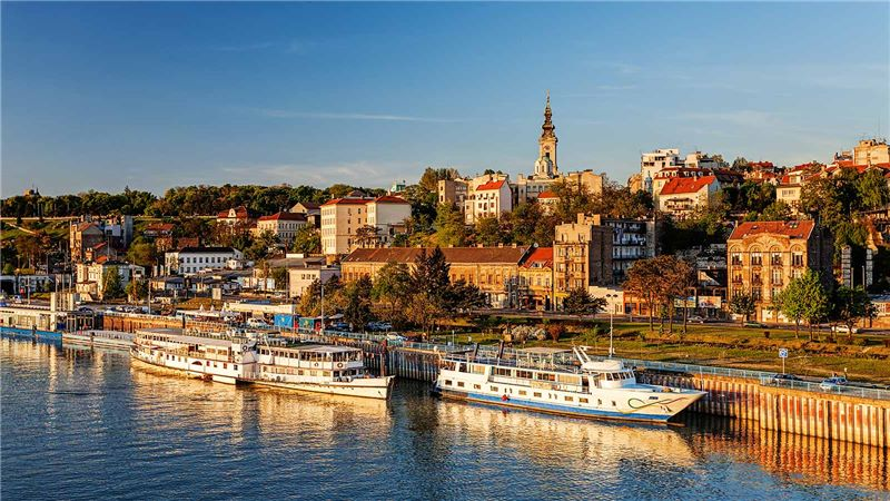 Parked Boats in Belgrade Serbia - Mace Group