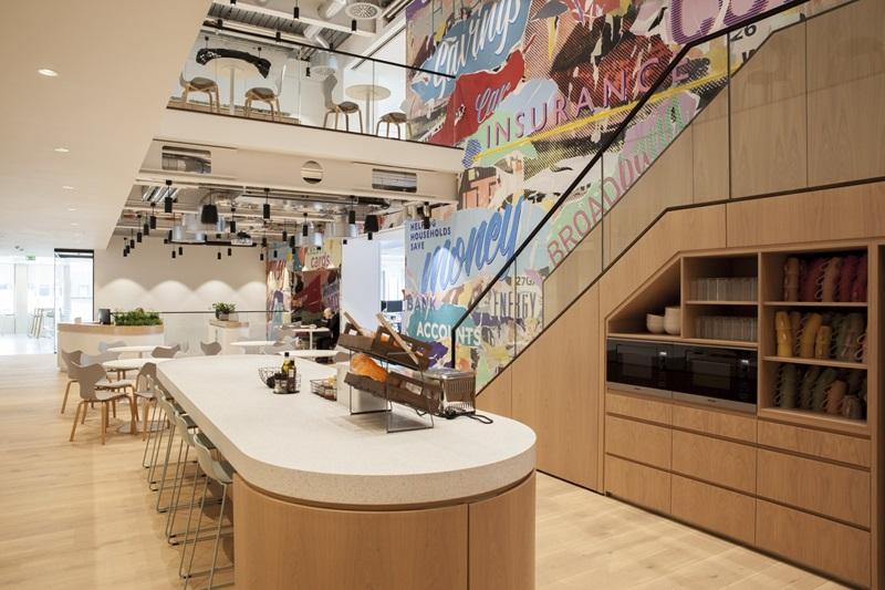 Money SuperMarket's Office Kitchen Area - Mace Group