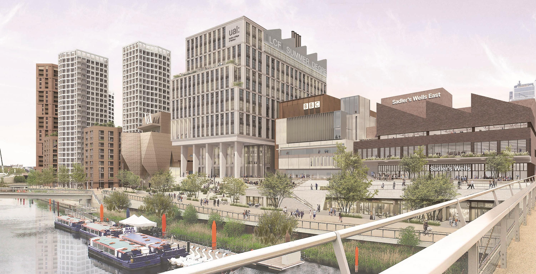 CGI View of Stratford Waterfront - Mace Group