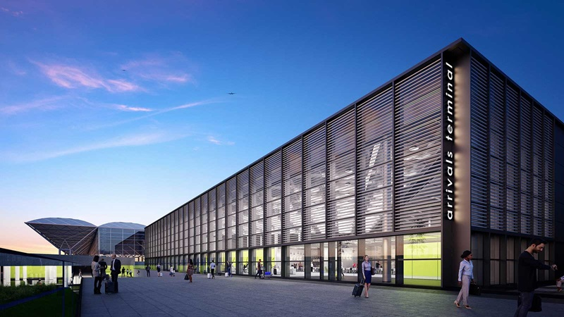 London Stansted Arrivals Terminal Exterior - Mace Group