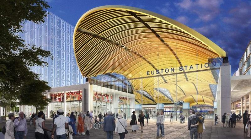 CGI View of HS2 Euston Station - Mace Group