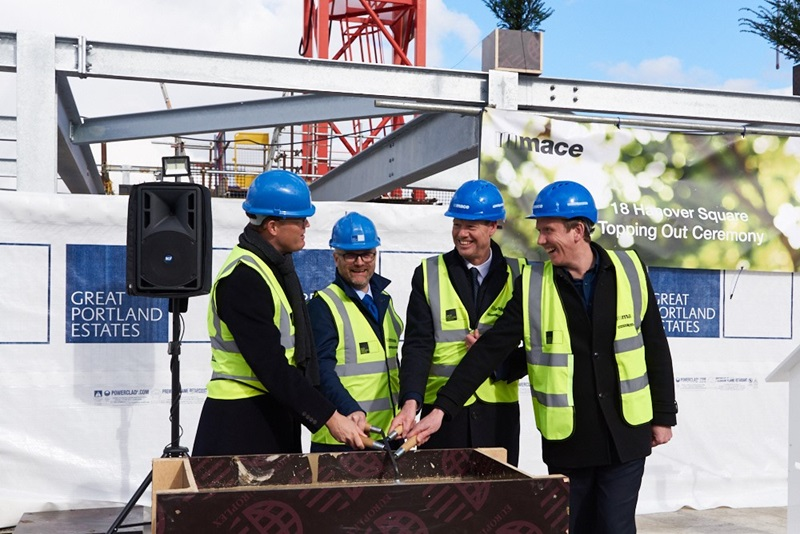 Mace People at Hanover Square Topping Out - Mace Group
