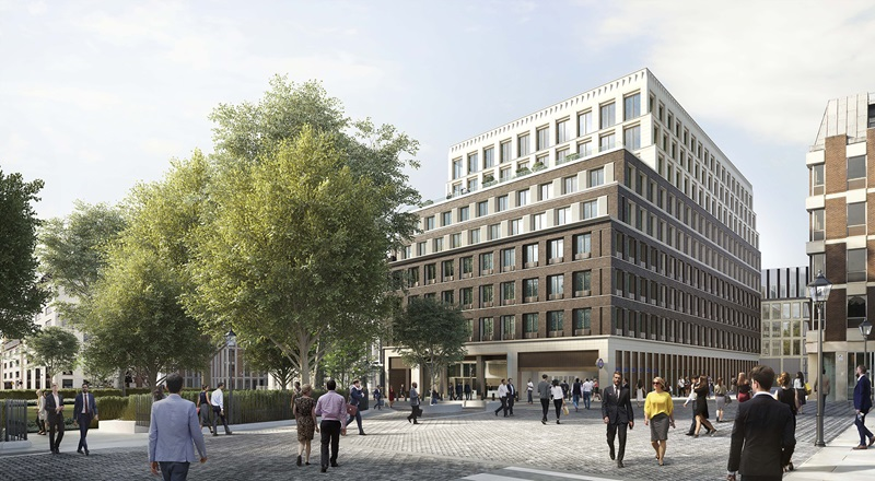 CGI View of Hanover Square Building - Mace Group