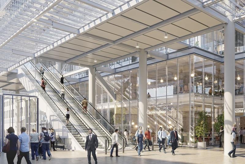 Escalators at Paddington Square - Mace Group