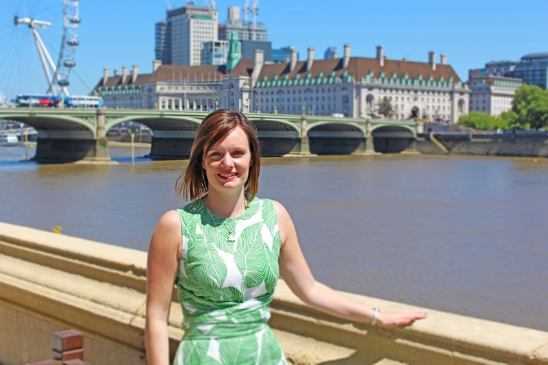 Mace People: Hannah Vickers, Westminster Bridge in the Background - Mace Group