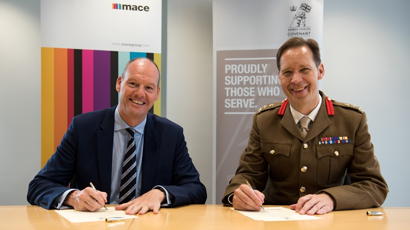 Mark Reynolds Contract Signing With Armed Forces Covenant - Mace Group