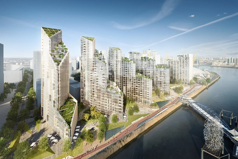 Aerial View of Greenwich Peninsula - Mace Group