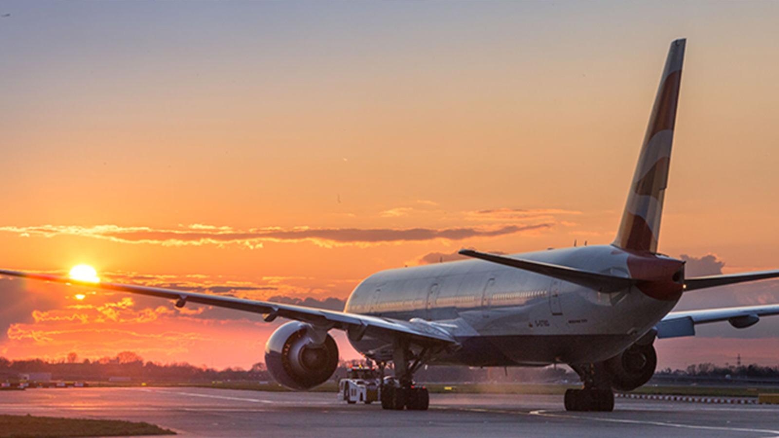 Sunset at London Heathrow Airport - Mace Group