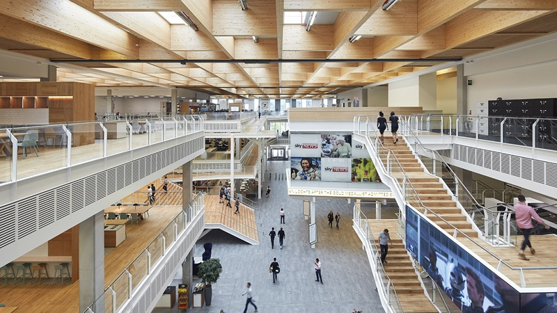 Inside London Sky Central Office - Mace Group