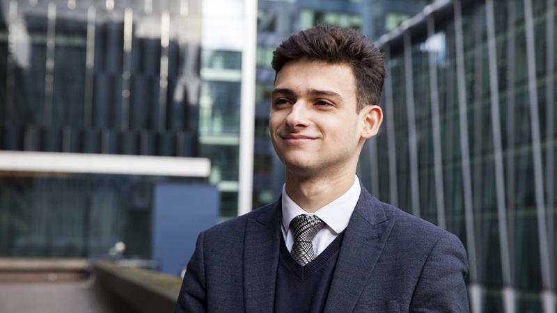 University Graduate in Suit, Asher Mehmet - Mace Group