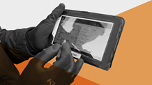 Animation of a hand holding an ipad