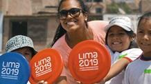 Children with teacher in Lima, Peru