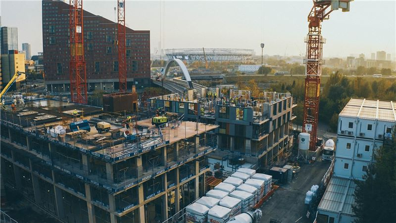 Aerial View of a Construction Site - Mace Group