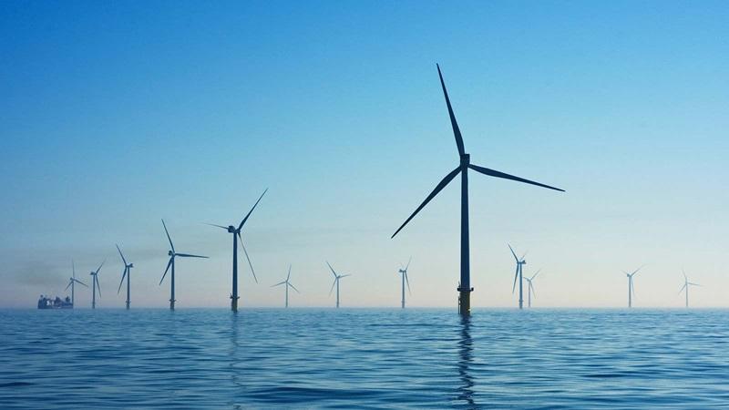 Sustainable energy ocean wind farm