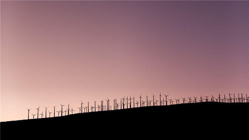 Wind farm on a hill top