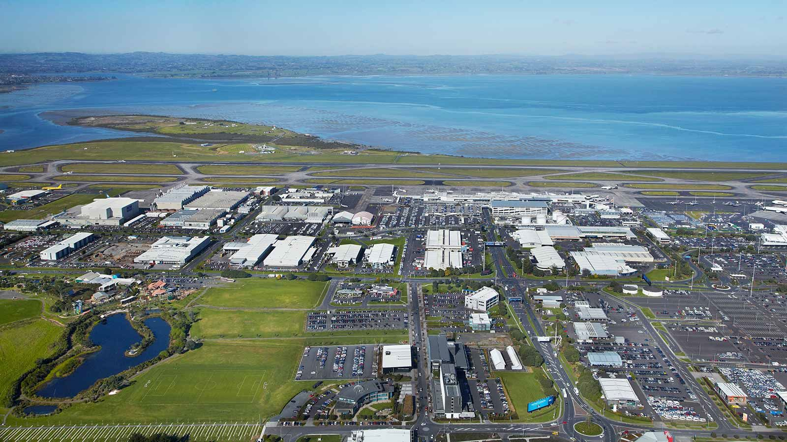 Auckland Airport Aerial View - Mace Group