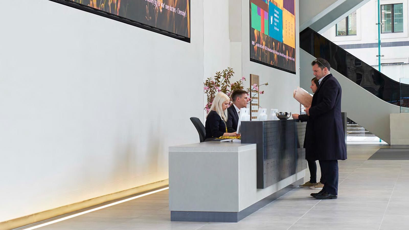 Aviva Building Reception Lobby - Mace Group