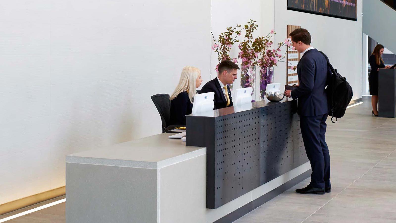 Aviva Building - Reception Desk - Mace Group