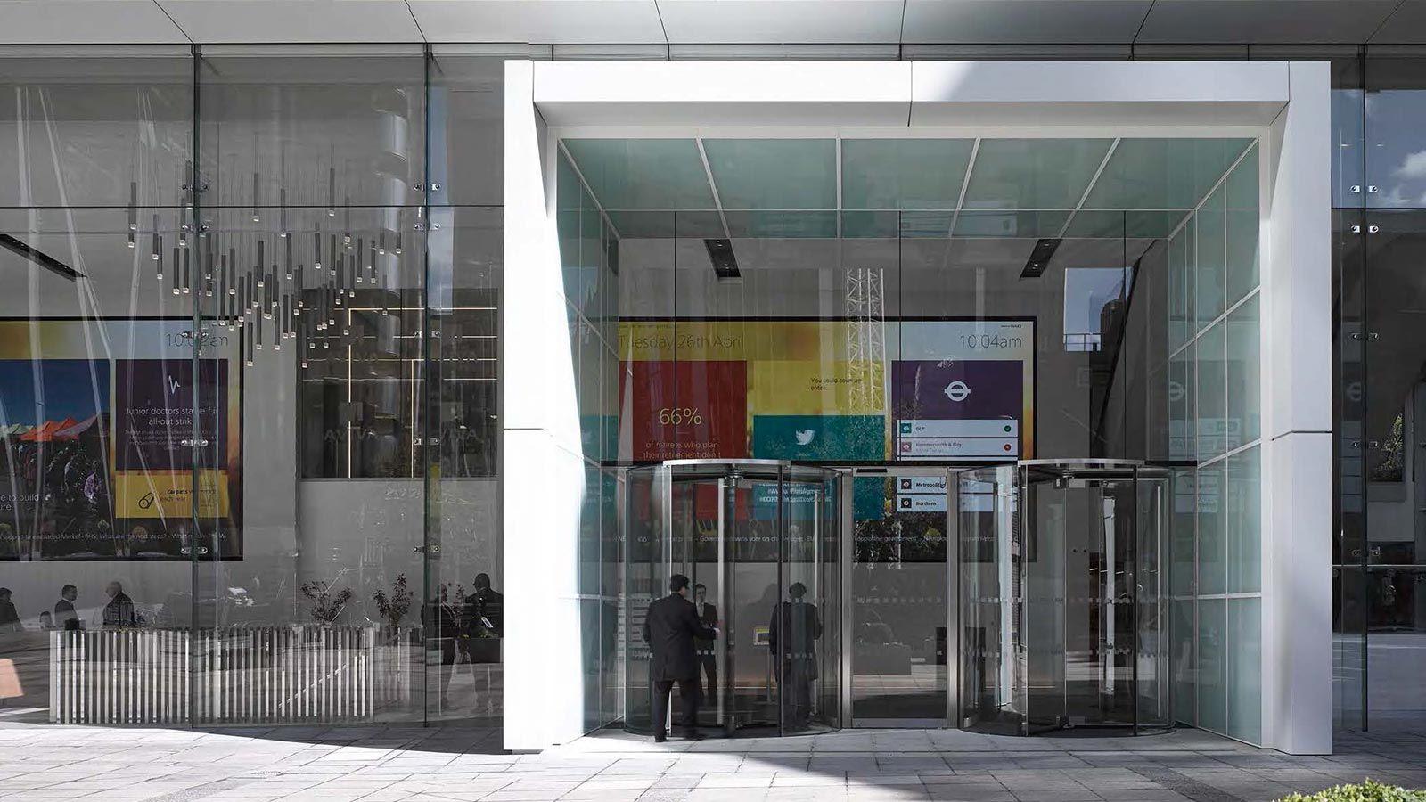 Aviva Building Entrance - Mace Group