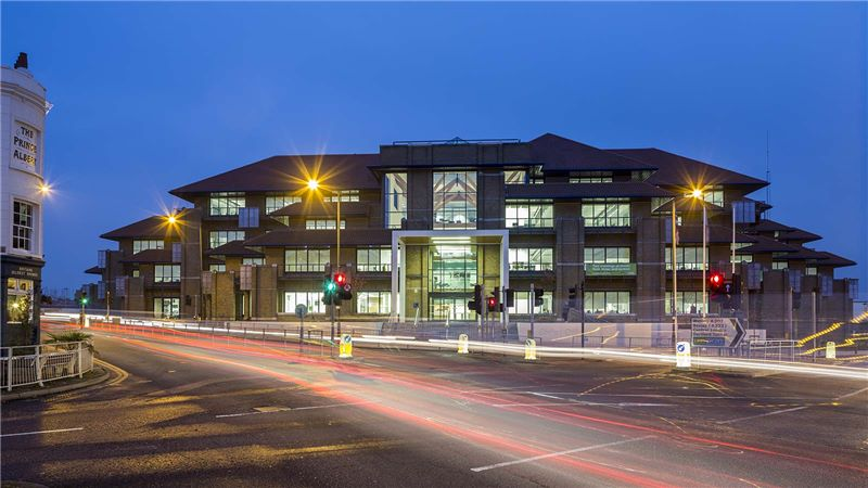 Bexley Civic Centre Building Exterior Night View - Mace Group