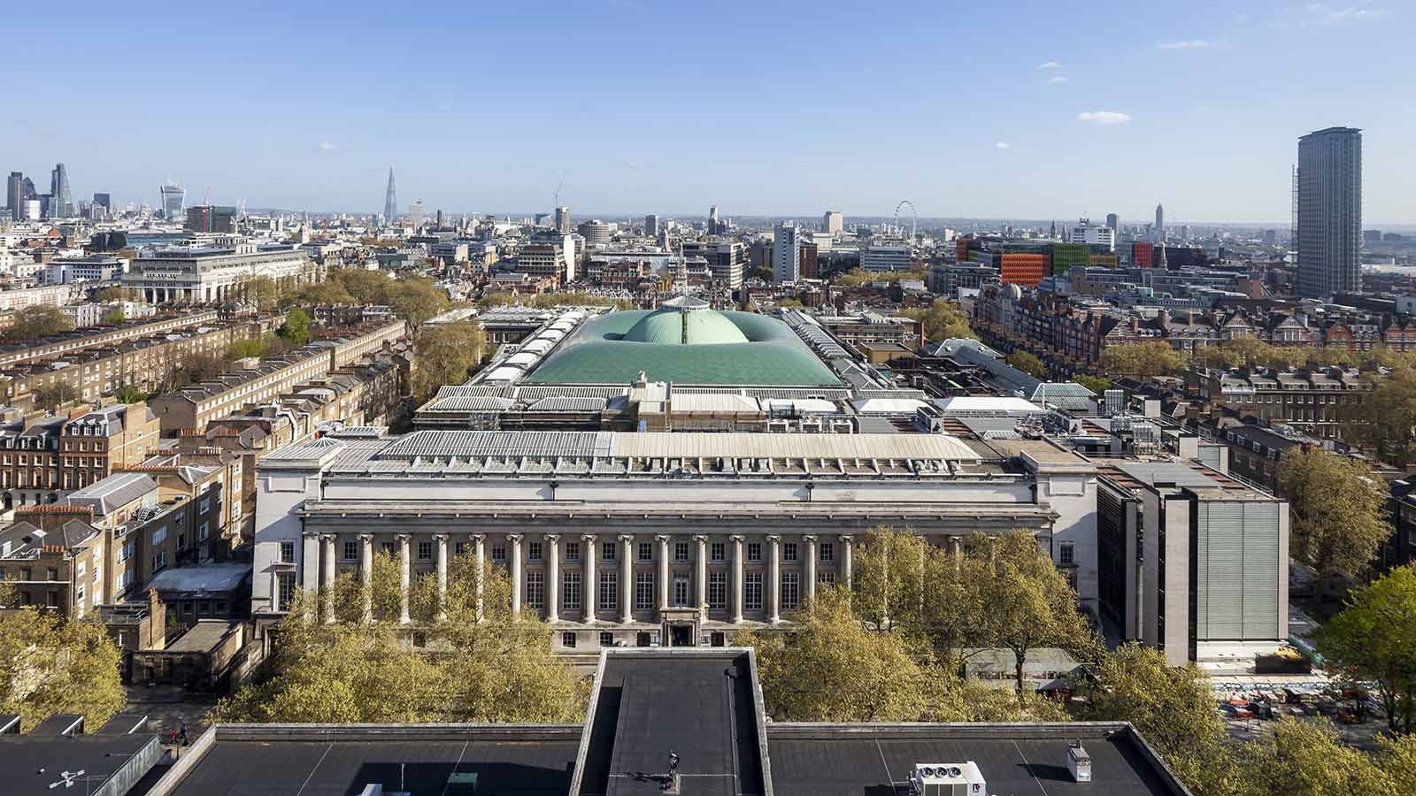 British Museum Building Exterior Aerial View - Mace Group