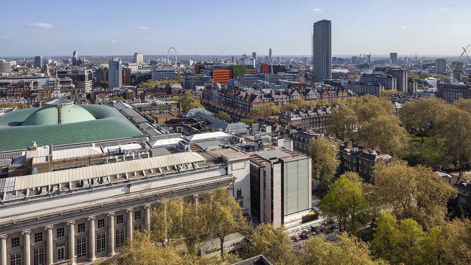 British Museum Building Exterior Aerial Day View - Mace Group