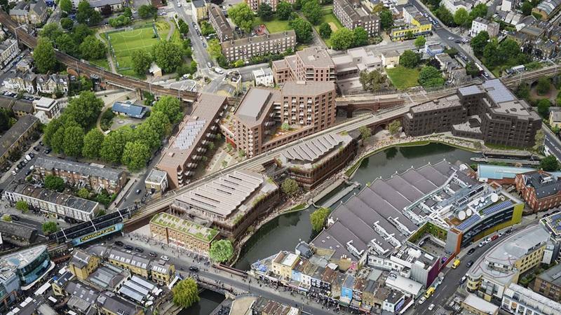 London, Camden Lock Aerial View - Mace Group