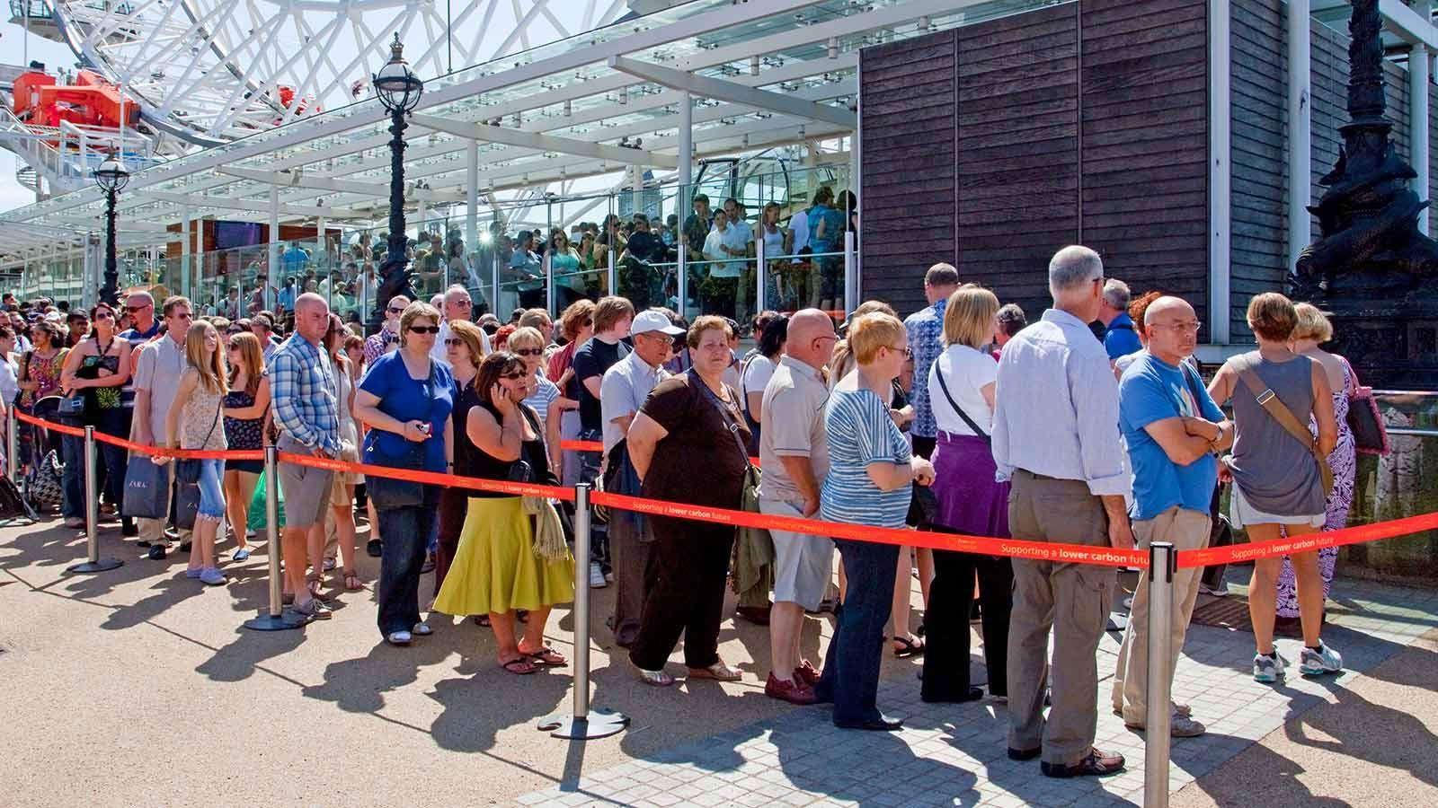 London Eye Tourists Queuing - Mace Group