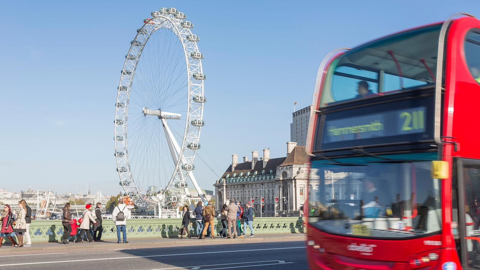 London Eye view from the bridge - Mace Group