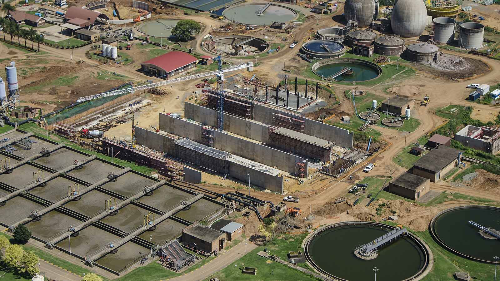 Darvill Waster Water Treatment Works Upgrade Aerial View - Mace Group