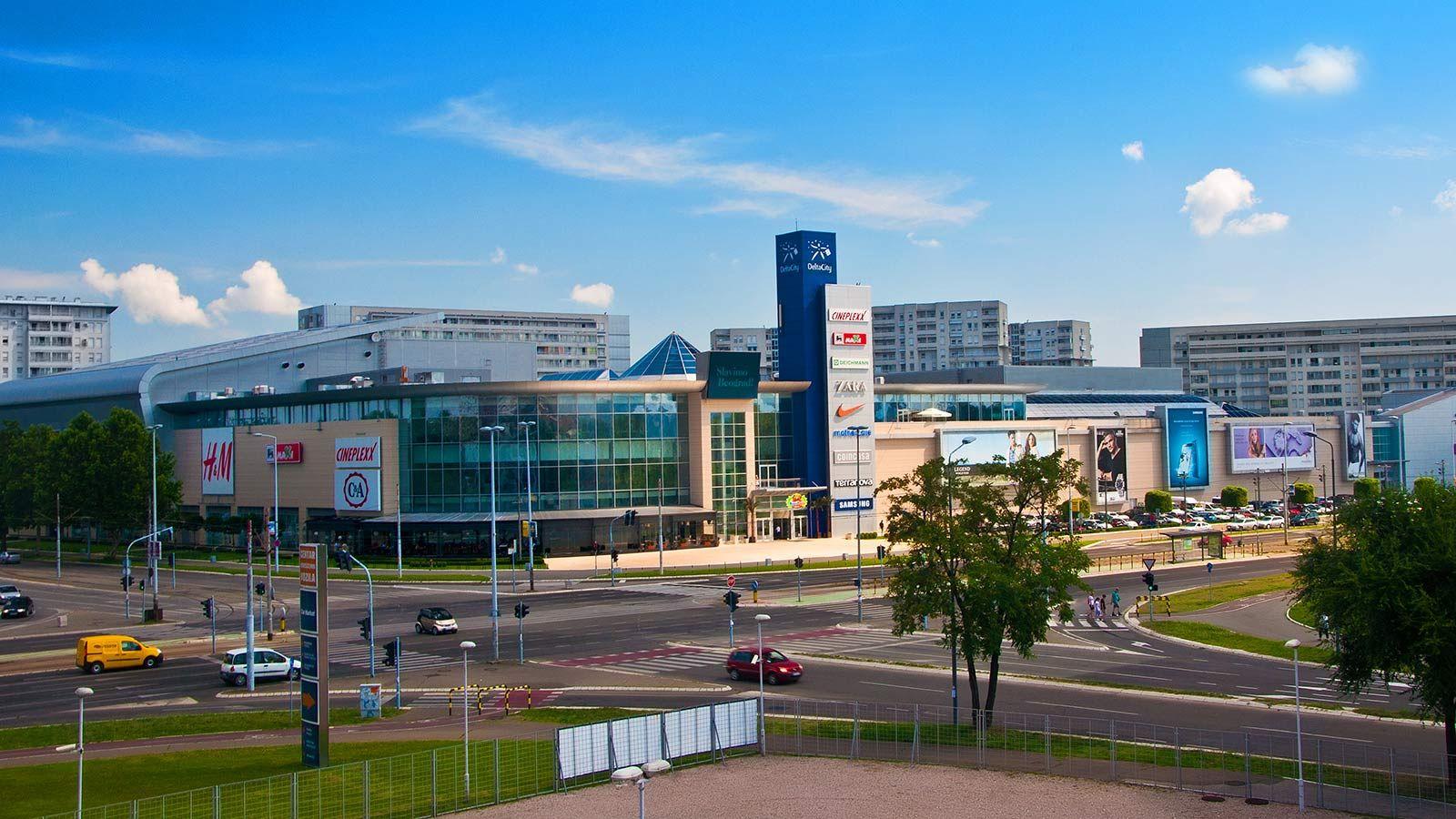 Delta City Belgrade Building Aerial View - Mace Group