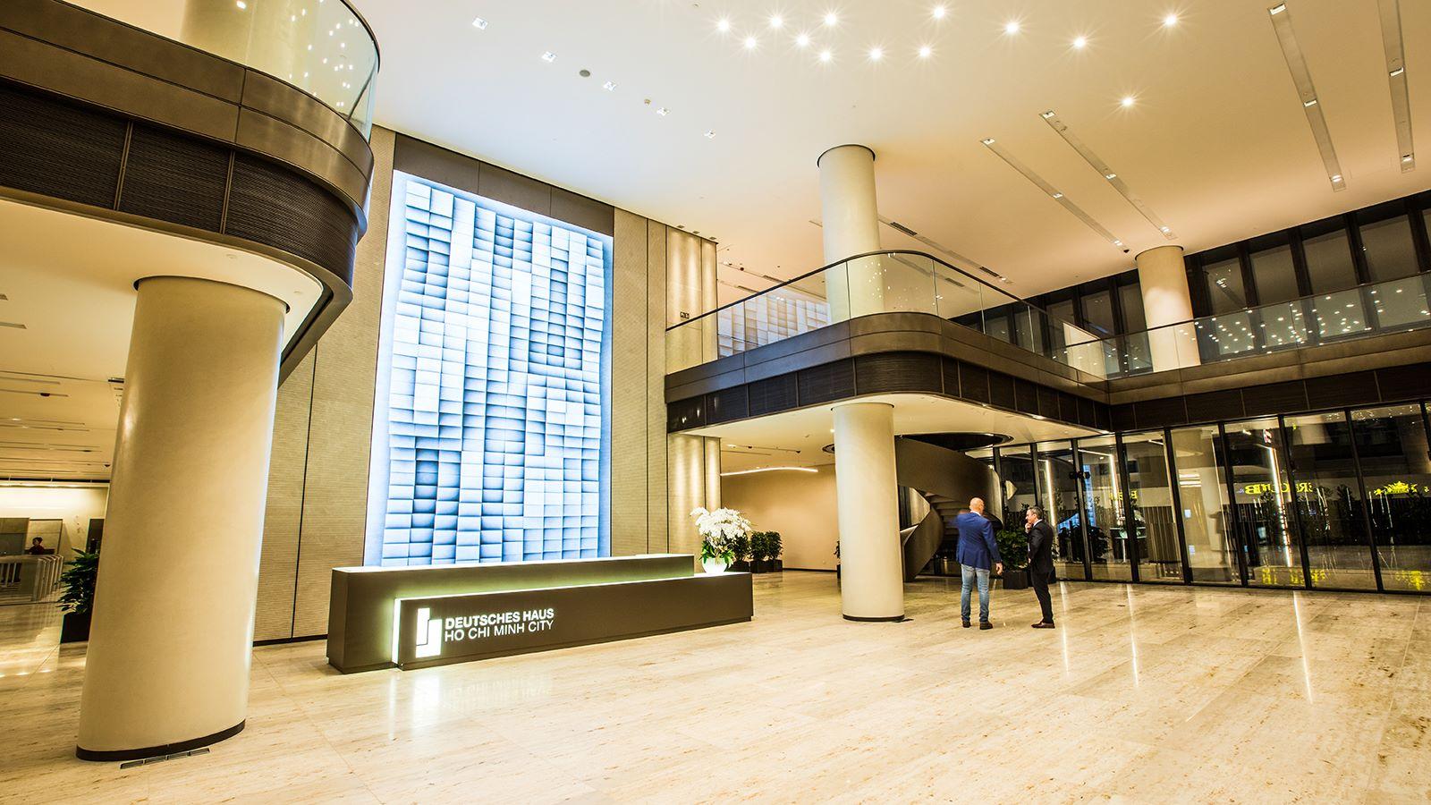 Deutsches Haus Building Reception Area - Mace Group