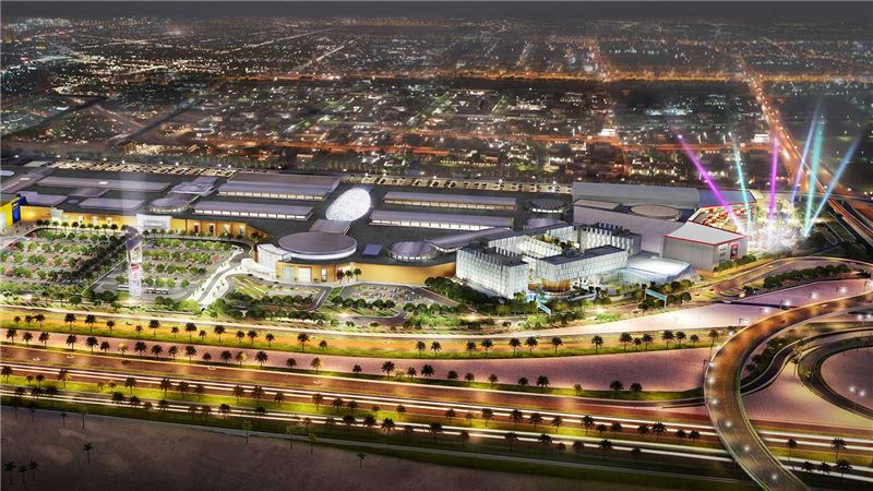 Doha Festival City Night Aerial View - Mace Group