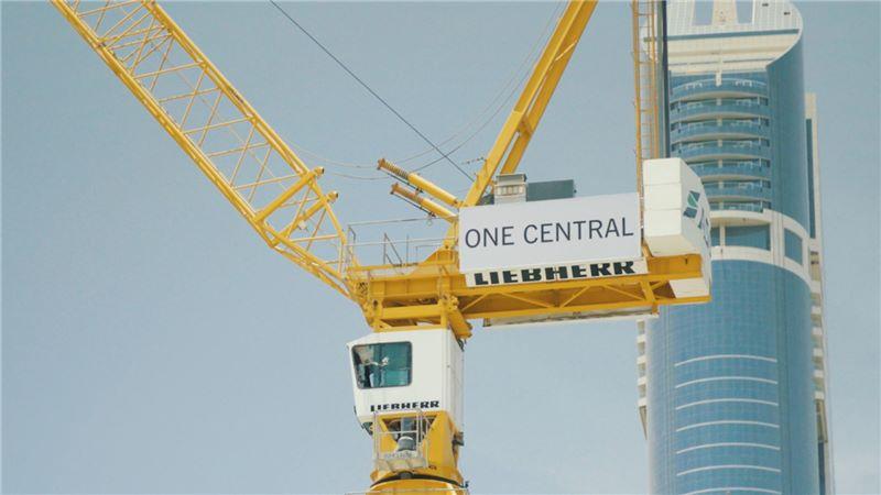 Dubai World Trade Centre One Central Crane - Mace Group