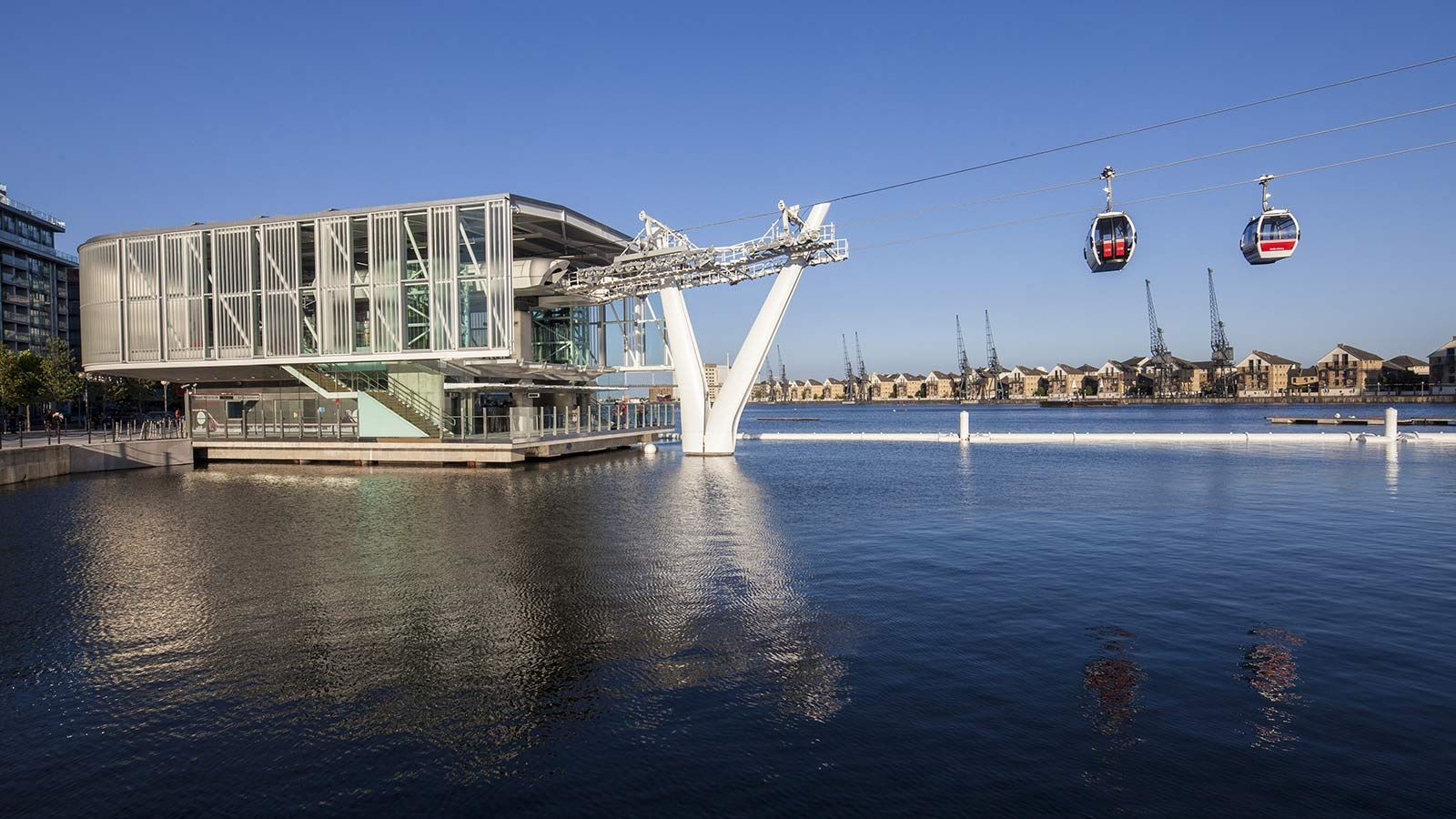 Emirates Air Line Cable Car River View - Mace Group