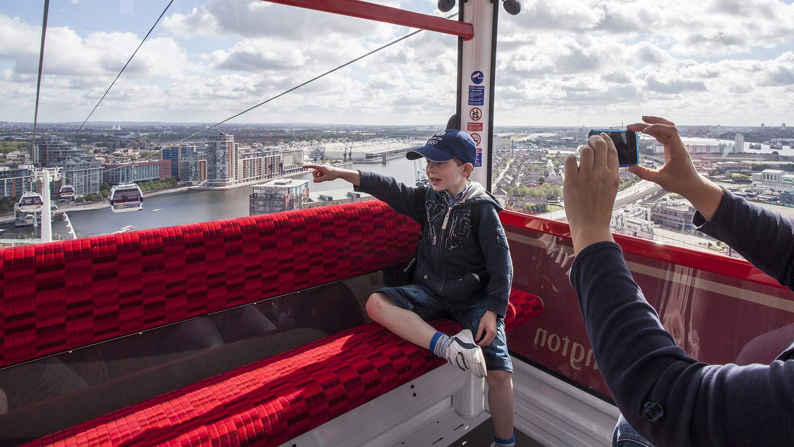 Child Pointing, Inside Emirates Airline Cable Car - Mace Group