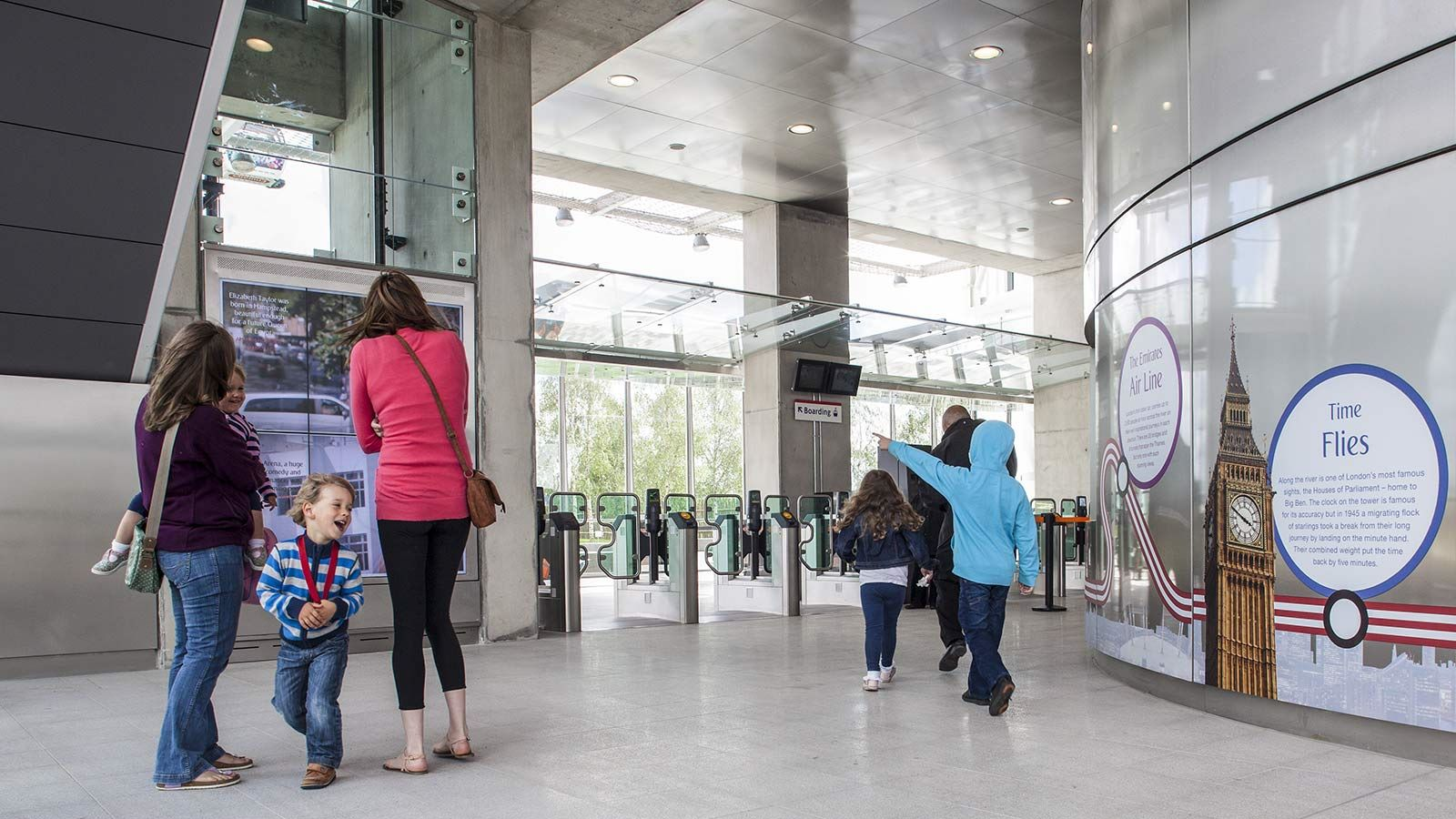 Inside Emirates Air Line Station - Mace Group