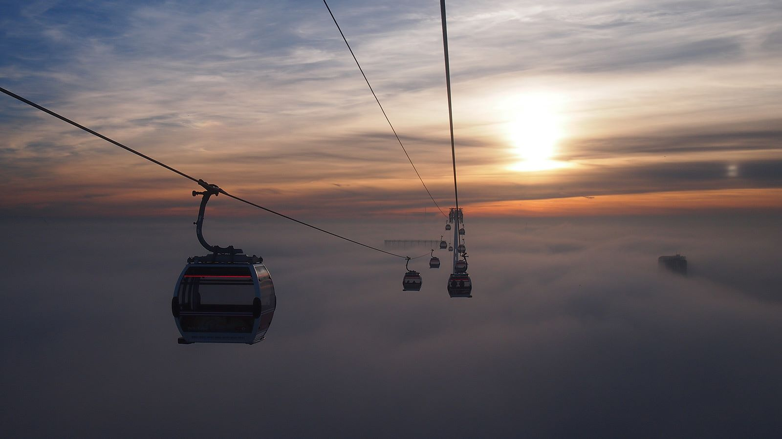 Emirates Air Line Cable Car Sky Aerial View - Mace Group