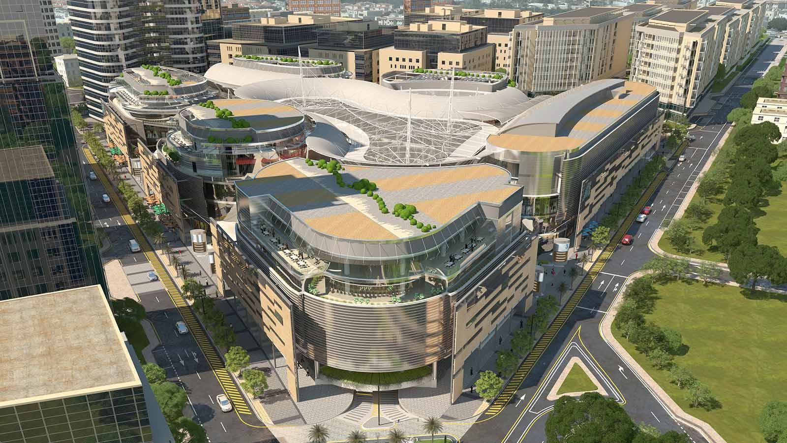 European Bank for Reconstruction and Development Building Aerial View - Mace Group