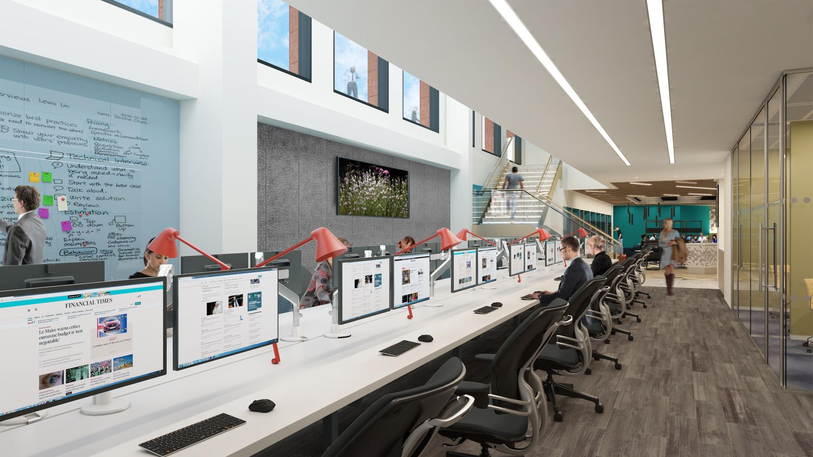 Fidelity Building Interior, Computer Room - Mace Group