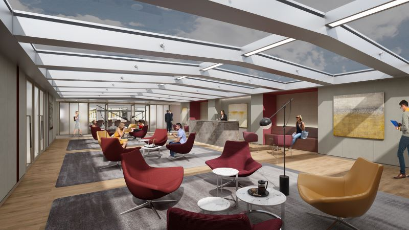 Fidelity Building Interior, Lobby Area - Mace Group