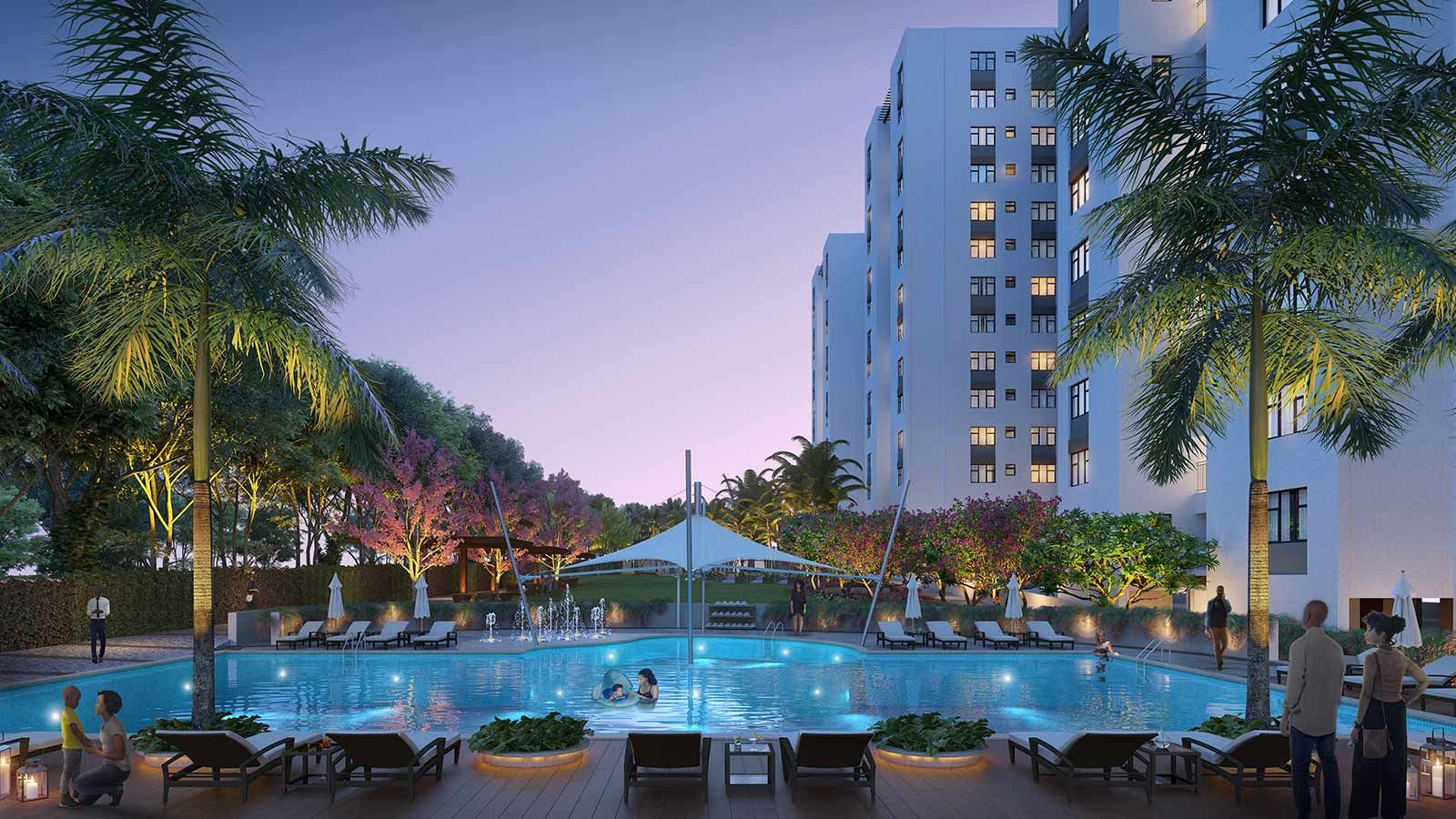 Garden City Building Pool Area - Mace Group